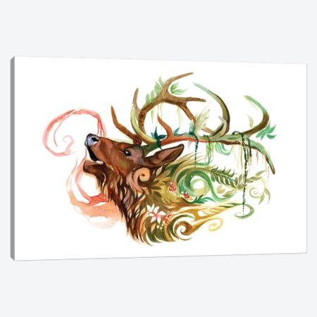 Elk Canvas Print #KLI40} by Katy Lipscomb Art Print