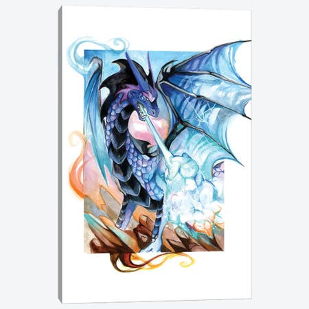 Fantasy Dragon Canvas Print #KLI43} by Katy Lipscomb Canvas Print