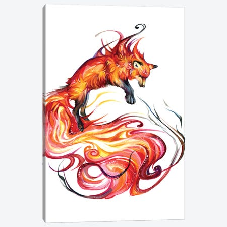 Fire Galaxy Fox Canvas Print #KLI44} by Katy Lipscomb Canvas Wall Art