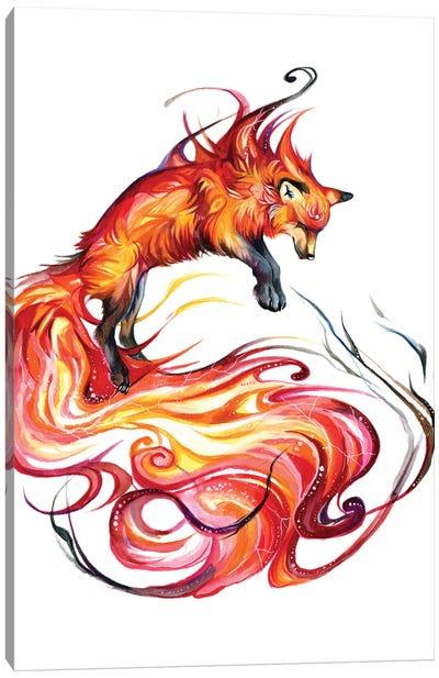 Fire Galaxy Fox Canvas Art Print