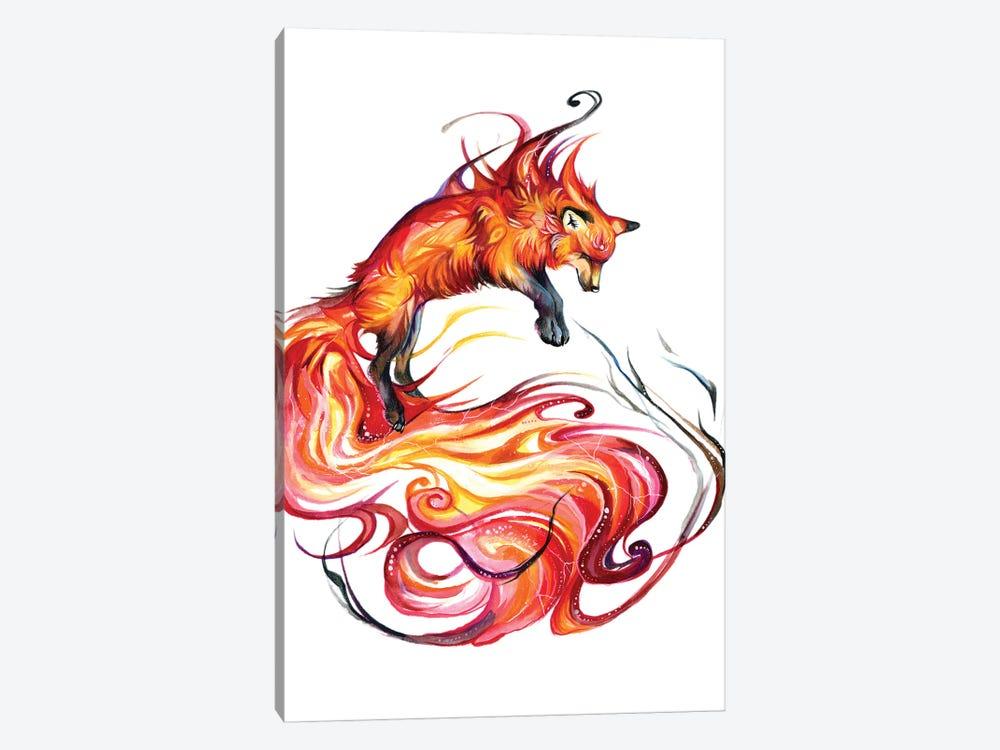 Fire Galaxy Fox by Katy Lipscomb 1-piece Art Print