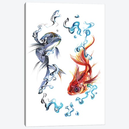 Fish - Balance 3-Piece Canvas #KLI45} by Katy Lipscomb Canvas Artwork
