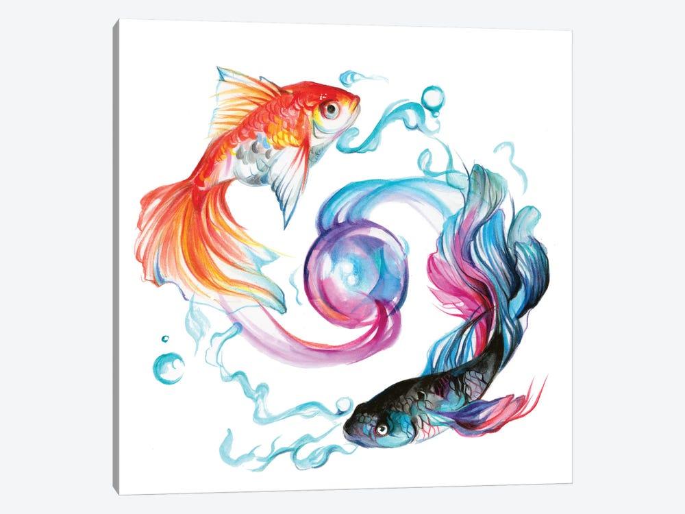 Fish - Pair by Katy Lipscomb 1-piece Canvas Art Print