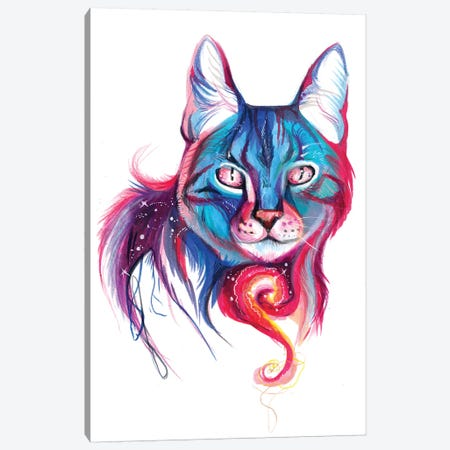 Galaxy Cat Canvas Print #KLI48} by Katy Lipscomb Canvas Art Print