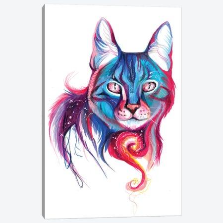 Galaxy Cat Canvas Print #KLI48} by Katy Lipscomb Canvas Art Print