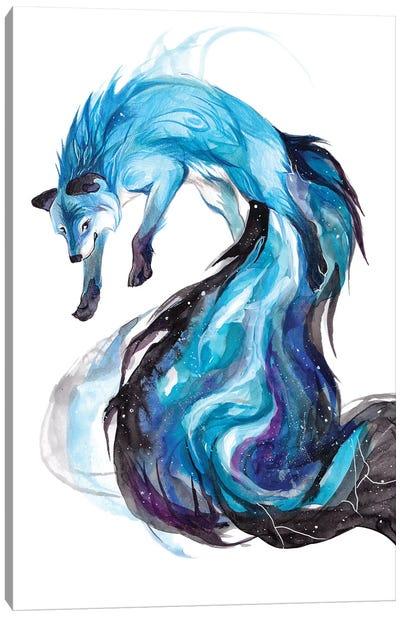 Galaxy Fox Canvas Art Print