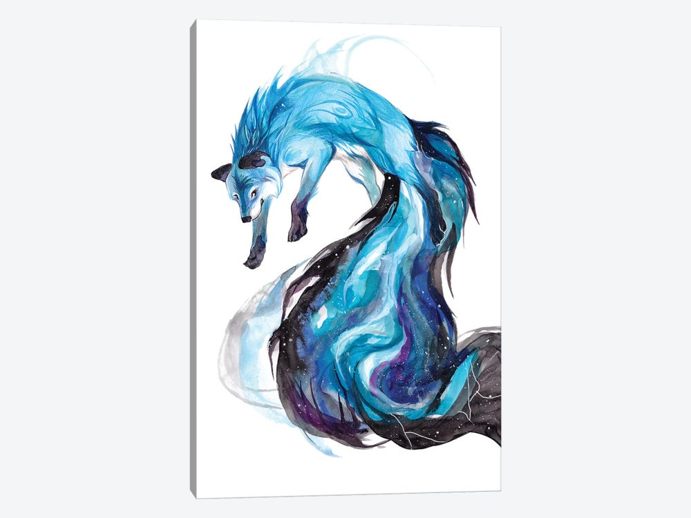 Galaxy Fox by Katy Lipscomb 1-piece Canvas Wall Art
