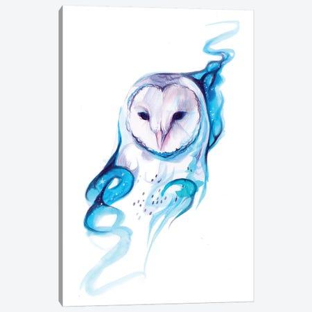 Galaxy Owl Canvas Print #KLI50} by Katy Lipscomb Canvas Wall Art