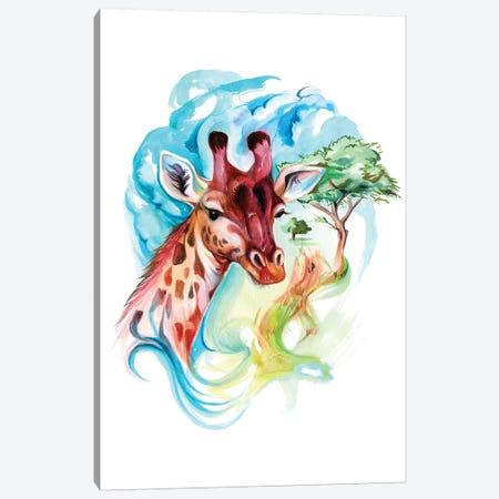 Giraffe II Canvas Print #KLI53} by Katy Lipscomb Canvas Art