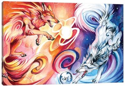 Hati-and-Skoll Canvas Art Print