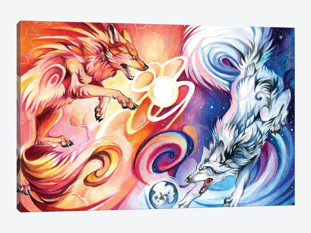 Hati-and-Skoll by Katy Lipscomb 1-piece Canvas Wall Art