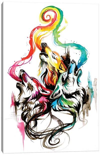 Howling Wolf Triad I Canvas Art Print