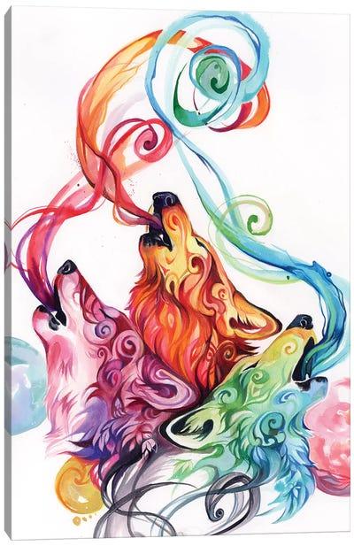 Howling Wolf Triad II Canvas Art Print
