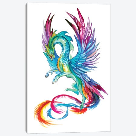 Hummingbird Dragon Canvas Print #KLI62} by Katy Lipscomb Canvas Print