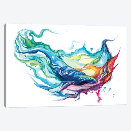 Humpback Whale Canvas Print #KLI64} by Katy Lipscomb Canvas Artwork