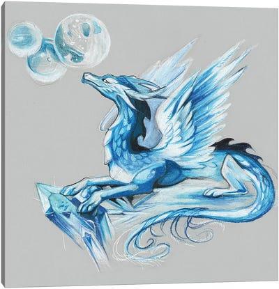 Ice Dragon Canvas Art Print