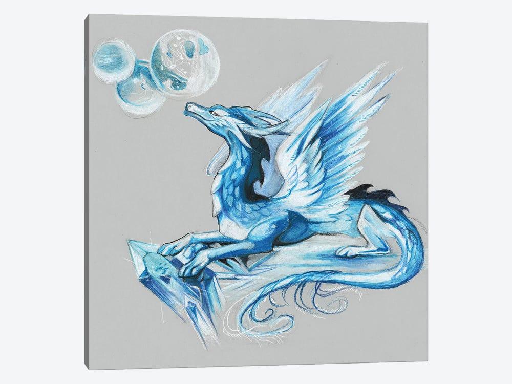 Ice Dragon by Katy Lipscomb 1-piece Canvas Artwork