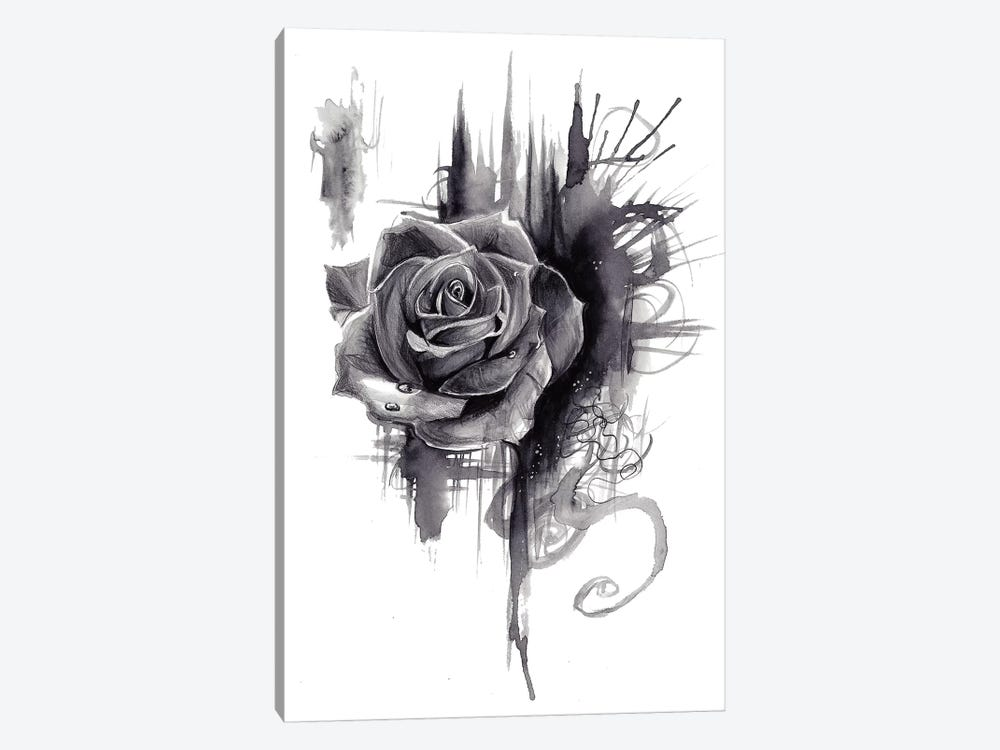 Ink Wash Rose by Katy Lipscomb 1-piece Canvas Wall Art