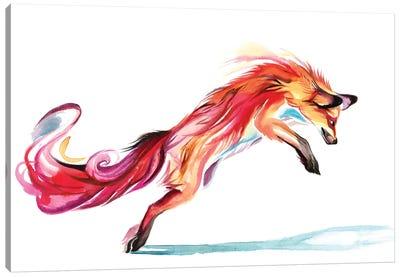 Jumping-Fox Canvas Art Print