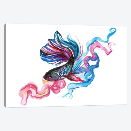 Betta Fish Canvas Print #KLI6} by Katy Lipscomb Canvas Art