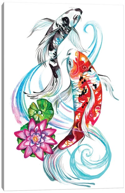 Koi Pair Canvas Art Print