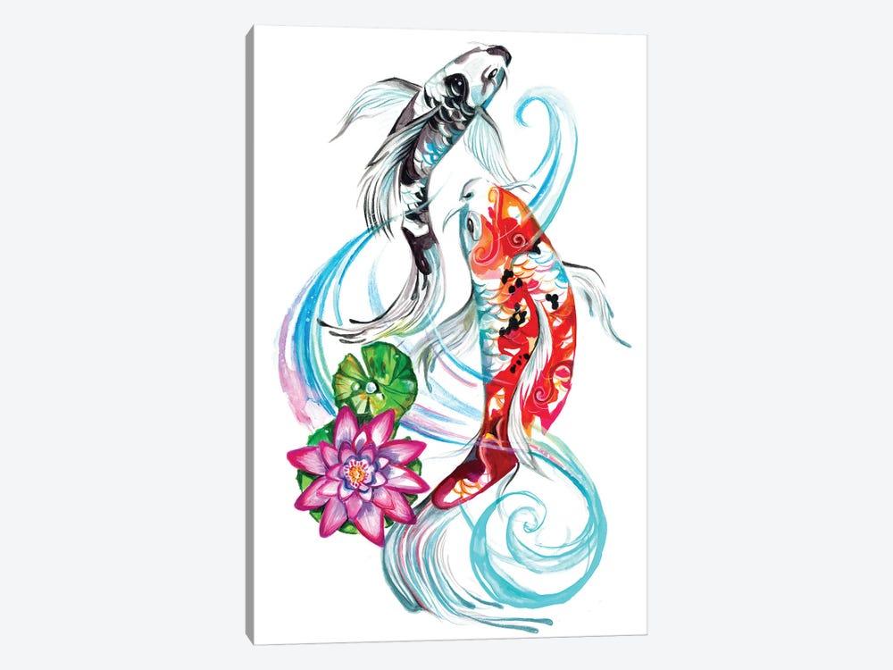 Koi Pair by Katy Lipscomb 1-piece Canvas Artwork
