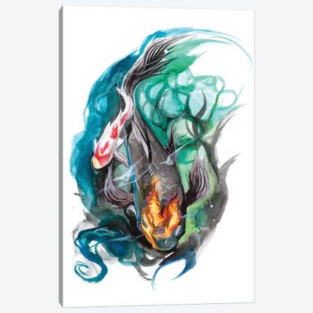 Koi Pond Canvas Print #KLI73} by Katy Lipscomb Canvas Art