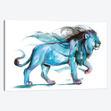 Leo - Blue Canvas Print #KLI75} by Katy Lipscomb Canvas Art Print