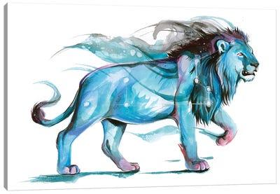 Leo - Blue Canvas Art Print