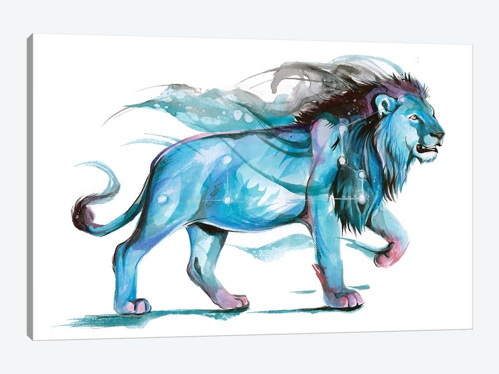 Leo - Blue by Katy Lipscomb 1-piece Art Print