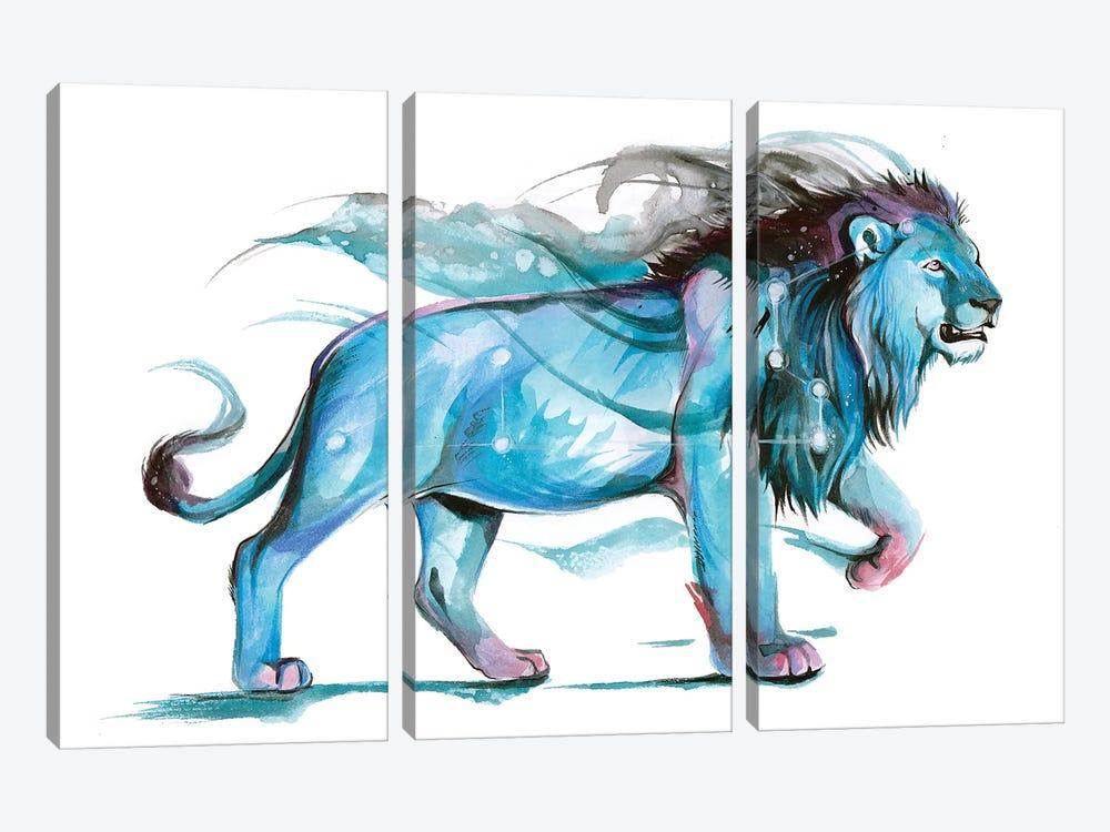 Leo - Blue by Katy Lipscomb 3-piece Canvas Art Print