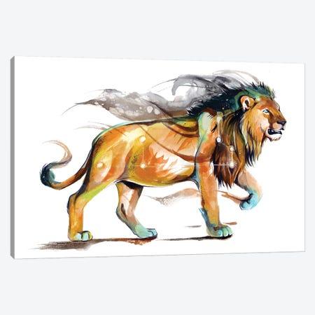 Leo - Orange Canvas Print #KLI76} by Katy Lipscomb Art Print