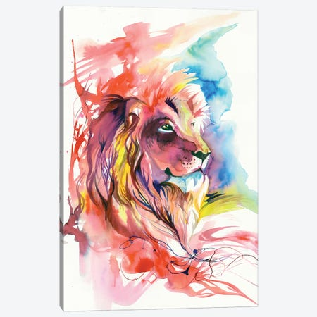 Lion Splash Canvas Print #KLI77} by Katy Lipscomb Canvas Print