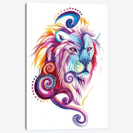 Lion-Design Canvas Print #KLI78} by Katy Lipscomb Canvas Wall Art