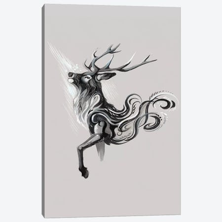 Black Stag Canvas Print #KLI7} by Katy Lipscomb Canvas Artwork