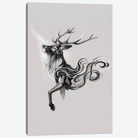 Black Stag Canvas Print #KLI7} by Katy Lipscomb Canvas Artwork