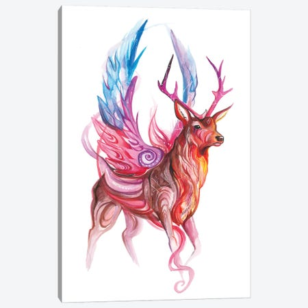 Magic Stag Canvas Print #KLI80} by Katy Lipscomb Art Print