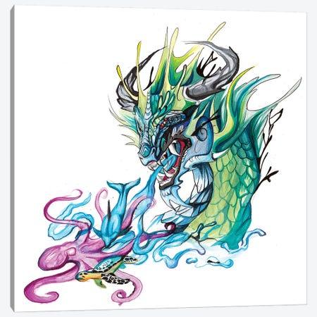 Ocean Dragon Canvas Print #KLI86} by Katy Lipscomb Canvas Artwork