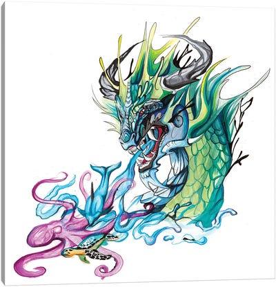 Ocean Dragon Canvas Art Print