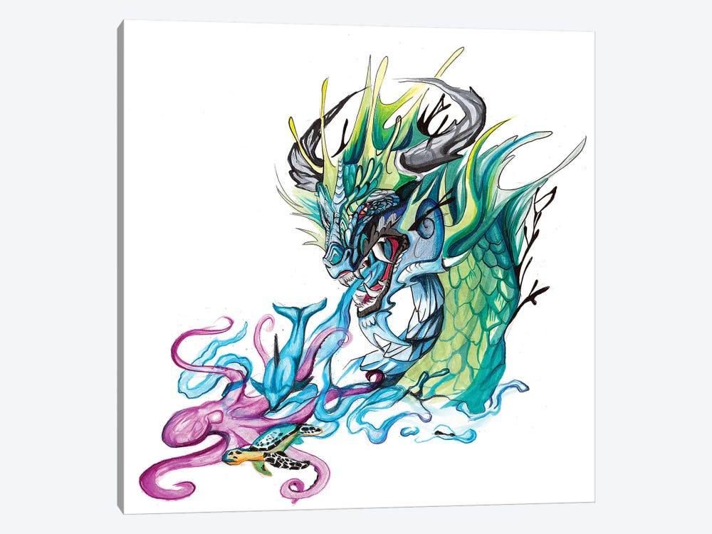 Ocean Dragon by Katy Lipscomb 1-piece Art Print