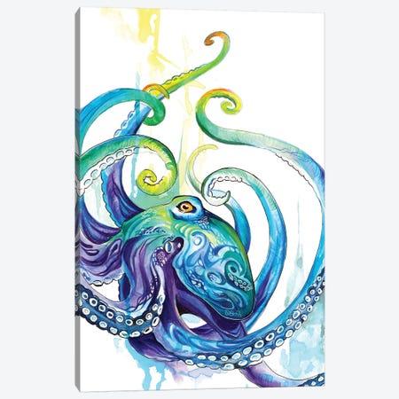 Octopus Canvas Print #KLI88} by Katy Lipscomb Canvas Art Print