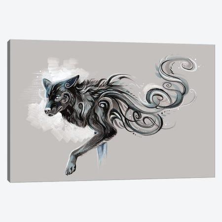 Black Wolf Canvas Print #KLI8} by Katy Lipscomb Canvas Art Print