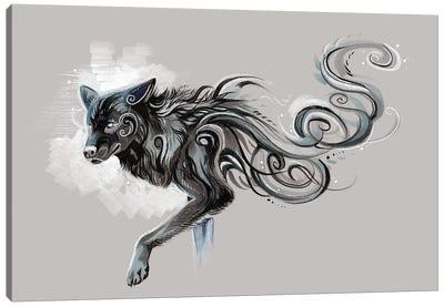 Black Wolf Canvas Art Print