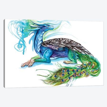 Peacock Dragon Canvas Print #KLI91} by Katy Lipscomb Canvas Wall Art