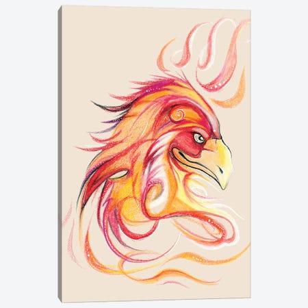 Phoenix Head Canvas Print #KLI95} by Katy Lipscomb Canvas Print