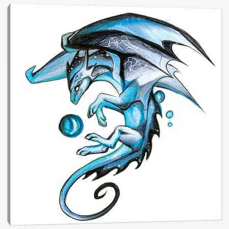 Blue Mystic Dragon Canvas Print #KLI9} by Katy Lipscomb Canvas Print
