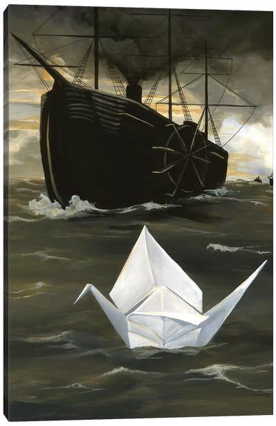 A Tsuru For Perry Canvas Art Print
