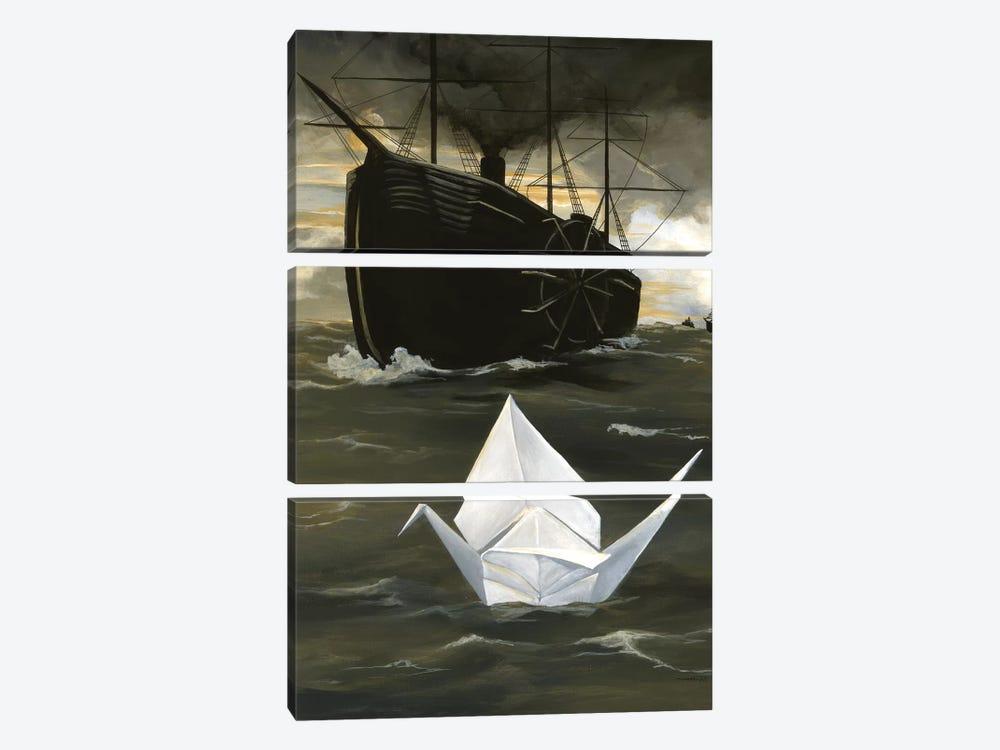 A Tsuru For Perry by Kristin Llamas 3-piece Canvas Artwork