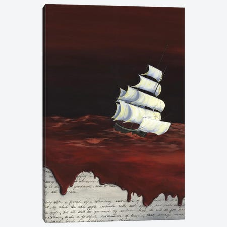 MA Book Bright Canvas Print #KLL69} by Kristin Llamas Canvas Artwork
