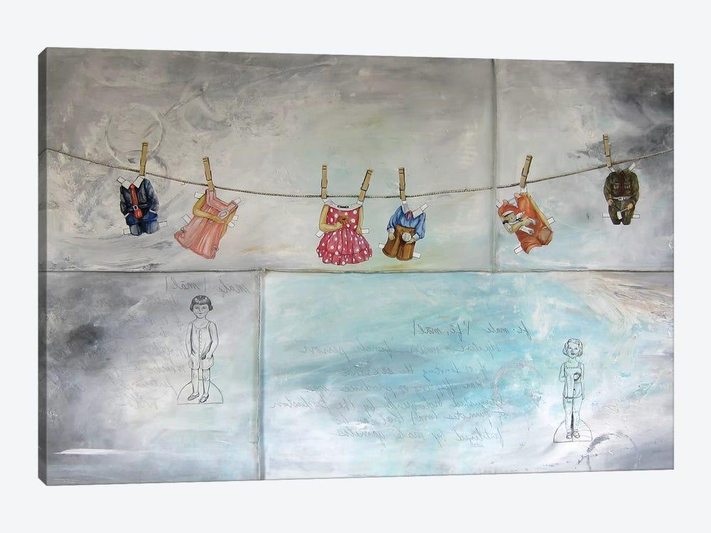 Raising Paper Dolls by Kristin Llamas 1-piece Canvas Artwork
